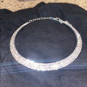 Diamante Rhinestone Choker Necklace NWT